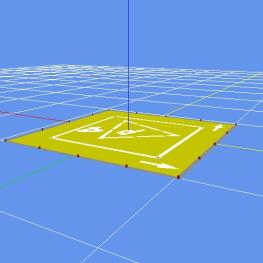 Helipad Yellow, MDL format ou DAE Collada.
