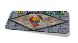 3D MODEL BRASIL LOGO 3