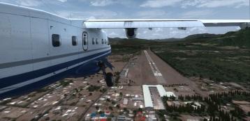 Chile. Pucón Airport arr