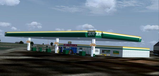 3D Model Download https://3dwarehouse.sketchup.com/model/d1cb0290-ee29-4360-826f-7749cb5cbe62/Posto-BR-Petrobras-Gas-Station-Brazil