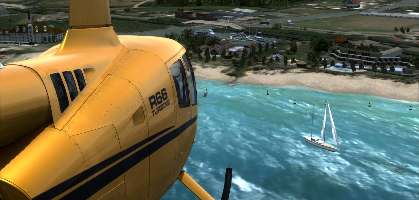 Lançamento Base de Radiopatrulha Aérea Águias PM SP Praia Grande Santos SP P3D/FSX Freeware Portobello6
